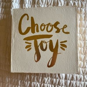 """choose joy"" art frame"